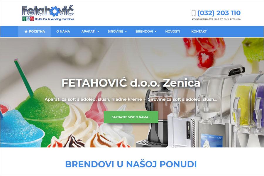 Nove web stranice www.fetahovic.ba